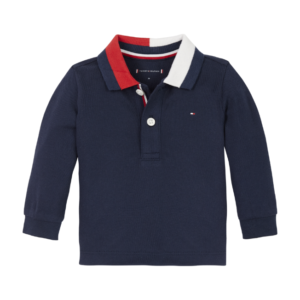 TH Baby Stretch Organic Cotton Long Sleeve Polo