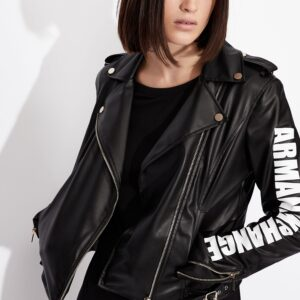 AX Faux Leather Jacket