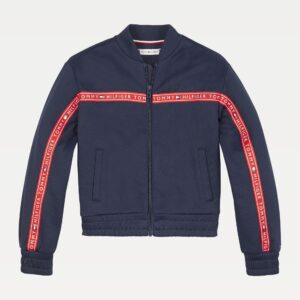 TH Girls Repeat Logo Tape Zip Track Jacket