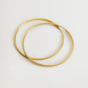MNG Gold Hoop Earrings