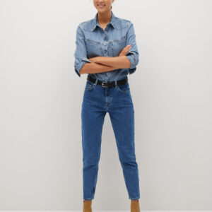 MNG 100% Cotton Mom Fit Jeans