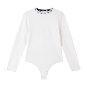 CKJ Organic Cotton Logo Collar Bodysuit